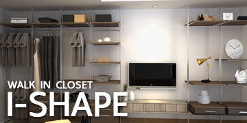 WALK IN CLOSET - I SHAPE