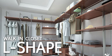 WALK IN CLOSET - L SHAPE